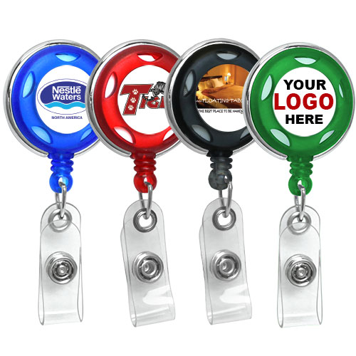 personalize carabiner id badge reel
