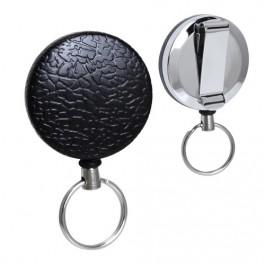 Heavy Duty Key Rings Retractable Reel, Textured