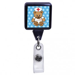 Nurse Bear - Medical Series Plastic Badge Reel
