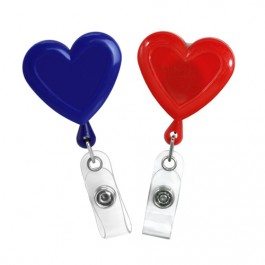 Heart Shaped Plastic Badge Reel