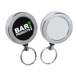 Heavy Duty Chrome Retractable Reel With Belt Clip