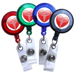 Medical Heart Symbol Translucent Plastic Badge Reel