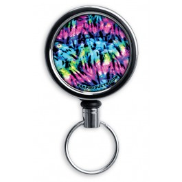 Mirrored Chrome Retractable Reel ONLY – Tie Dye 3