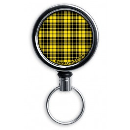 Mirrored Chrome Retractable Reel ONLY – Yellow Plaid