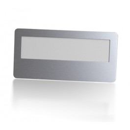 Plastic Window Name Tag with Magnetic Fastener Backing