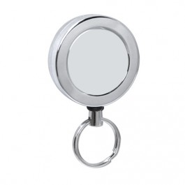 Heavy Duty Chrome Retractable Reel With Belt Clip - Blank