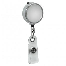 Mini Chrome ID Badge Reel, Belt Clip