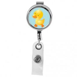 DUCK - Cute Animals Series Mini Chrome ID Badge Reel