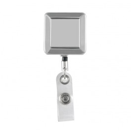 Chrome Square ID Badge Reel