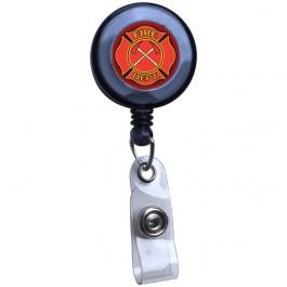 Fire Fighter Translucent Plastic Badge Reel