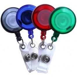 Translucent Plastic Badge Reel, 4 colors
