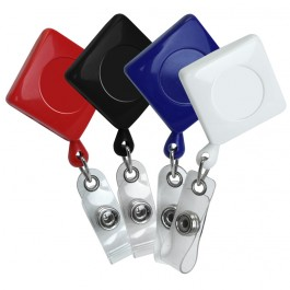 Diamond Plastic ID Badge Retractable Reel