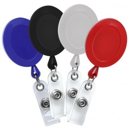 Oval Plastic ID Badge Reel