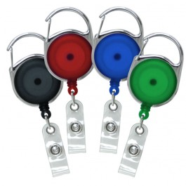 Translucent Round Carabiner Badge Reel