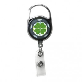 Black - Lucky Sham Series, Translucent Carabiner Badge Reel