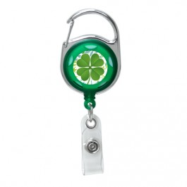 Green - Lucky Sham Series, Translucent Carabiner Badge Reel