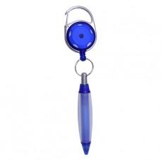 Carabiner Reel with Blue Pen