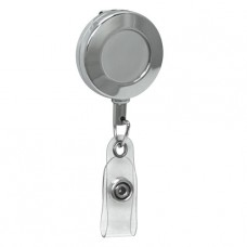 "Chrome Round Badge Reel, 36"" nylon cord"