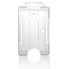 Vertical Hard Plastic ID Badge Holder