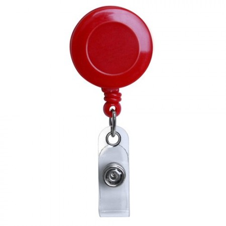 Red 1.25/'/' Retractable Badge ID Reel with Vinyl Strap /& Belt Clip Lot of 100