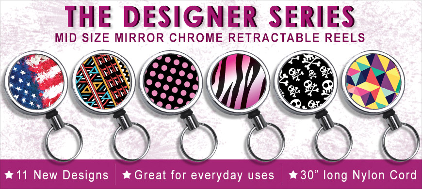 new designs mid size chrome retractable reels